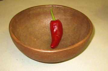 Bowl with chilli
